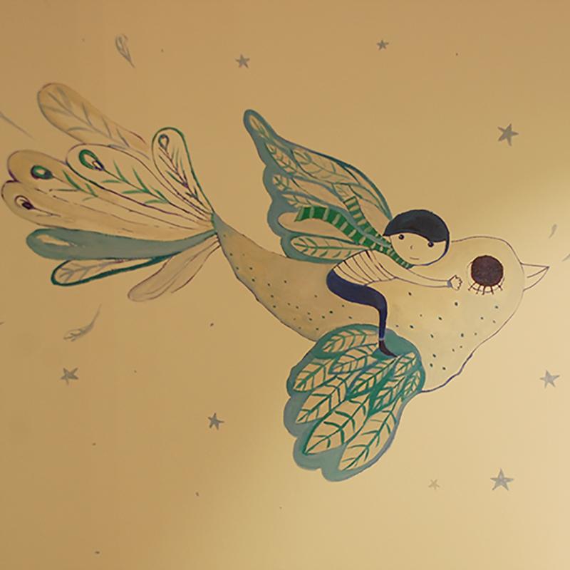 Изработка и рисуване с шаблони за стена от Light on Пловдив
